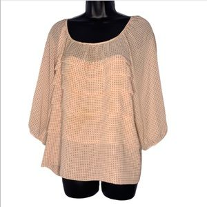 Max Edition chiffon polka dot blouse Size L